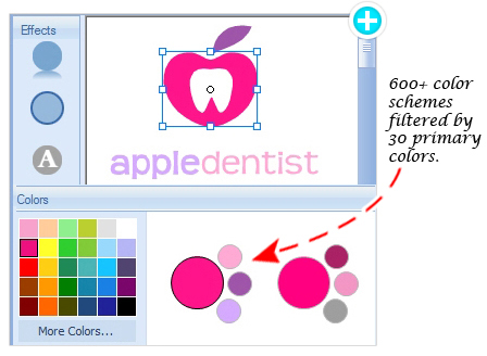 Logo Design - Filter Color by Primary Color