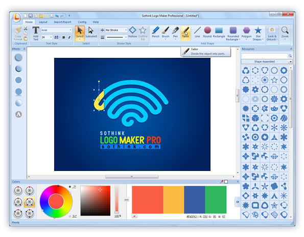 Logo maker make your own logo with sothink 39 s logo design Free online blueprint maker
